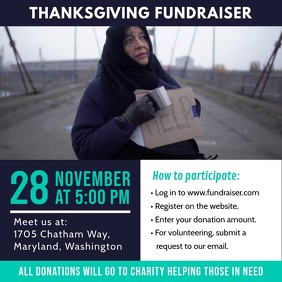 Thanksgiving Food Drive Fundraiser Ad