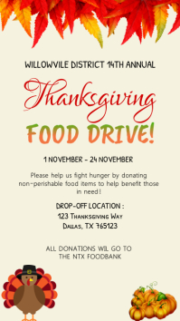 Thanksgiving Food Drive Invitation Instagram Indaba yaku-Instagram template