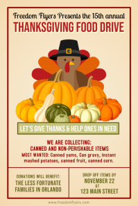 Thanksgiving Food Drive Poster