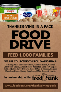 Thanksgiving Food Drive Poster Template
