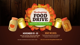 Thanksgiving Food Drive Twitter Post Iphosti le-Twitter template