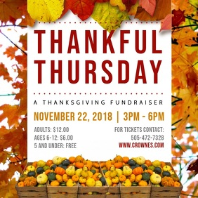 Thanksgiving Fundraiser Event Video Ad