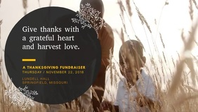 Thanksgiving Fundraiser Event Video Advert