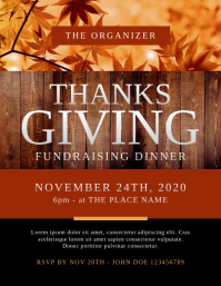 Thanksgiving Fundraising Dinner Flyer