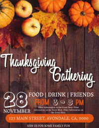 Thanksgiving Gathering Event Flyer Template