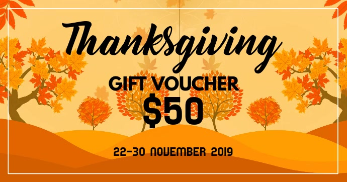 Thanksgiving gift voucher