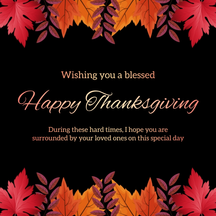 Thanksgiving Greeting Card Instagram - 2 template