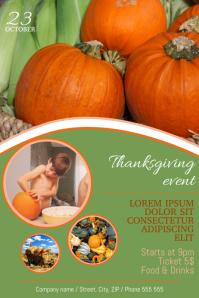 Thanksgiving Harvest Festival Dinner Fair Flyer Template