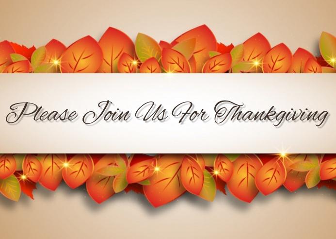 Thanksgiving invitation Kartu Pos template
