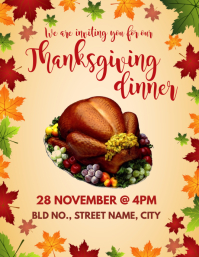 Thanksgiving Invite Flyer (US Letter) template
