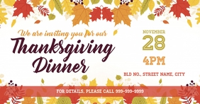 Thanksgiving invite Facebook 活动封面 template