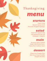Thanksgiving Menu Volante (Carta US) template