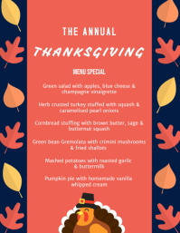 Thanksgiving Menu Flyer (US Letter) template