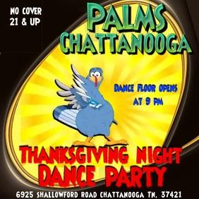 Thanksgiving night Dance Party Сообщение Instagram template
