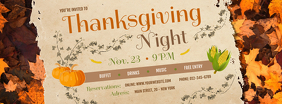 Thanksgiving Night Facebook Cover Photo