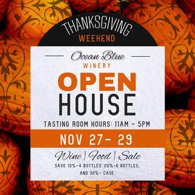 Thanksgiving Open House Instagram Image
