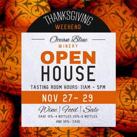 Thanksgiving Open House Instagram Image