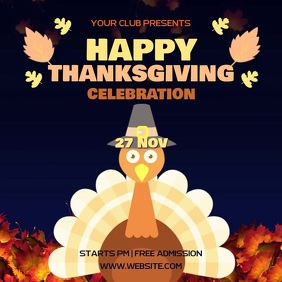 THANKSGIVING PARTY AD SOCIAL MEDIA TEMPLATE