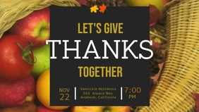Thanksgiving Party at Residence Facebook Cover Video