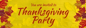 Thanksgiving party banner Bannier 2' × 6' template