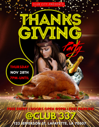 THANKSGIVING PARTY CLUB FLYER