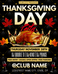 THANKSGIVING PARTY CLUB FLYER TEMPLATE