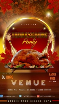 Thanksgiving Party Historia de Instagram template