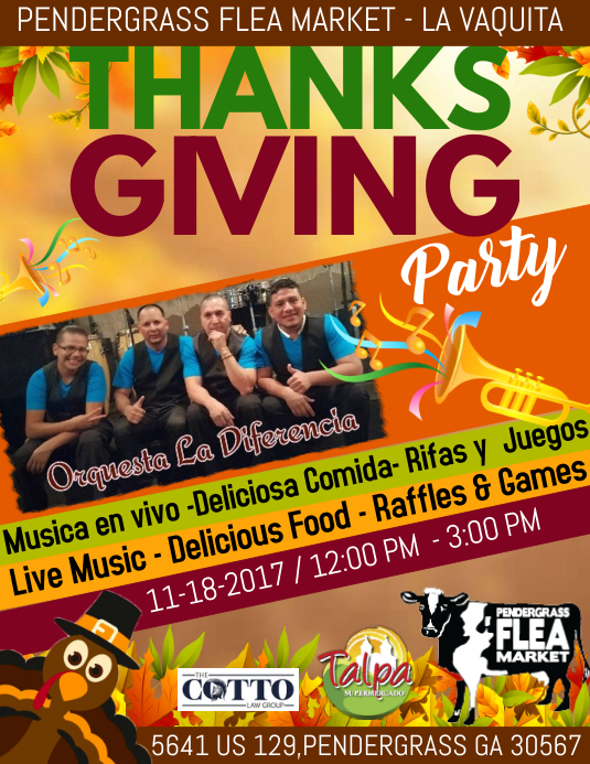 thanksgiving party template postermywall