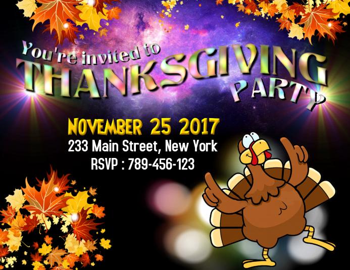 Thanksgiving Party Invitation 2017