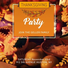 Thanksgiving Party Invitation Video Template