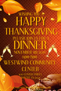 Thanksgiving Party Invite