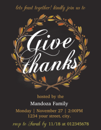 photo relating to Free Printable Thanksgiving Flyer Templates referred to as Personalize 1,260+ Thanksgiving Templates PosterMyWall