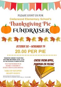 Thanksgiving Pie Fundraiser Flyer A4 template