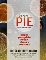 Thanksgiving Pie Special Orders Flyer Ad 传单(美国信函) template