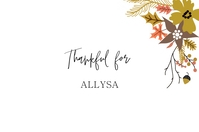 thanksgiving place card template Rótulo