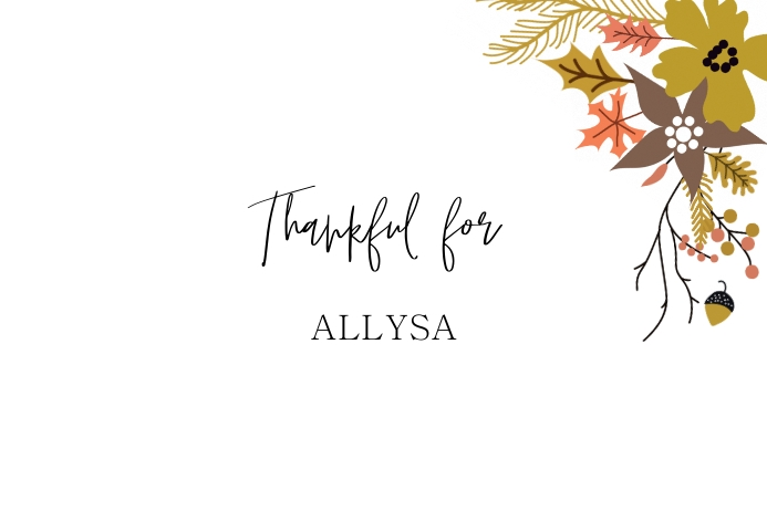 thanksgiving place card template Etiket