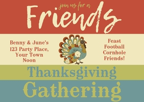 Thanksgiving Post Card Postcard template