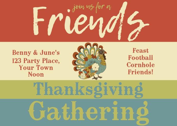 Thanksgiving Post Card Postal template