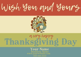 Thanksgiving Post Card Postal template
