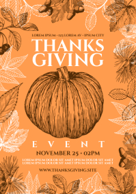 THANKSGIVING POSTER A4 template