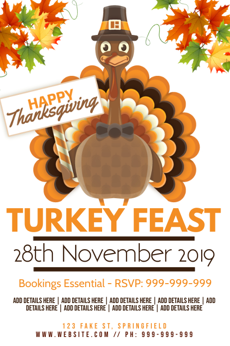 Thanksgiving Poster Plakat template