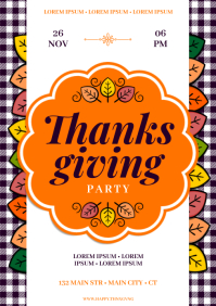 THANKSGIVING PARTY POSTER A4 template