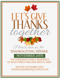 Thanksgiving Flyer (US Letter) template