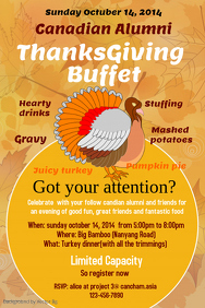 Thanksgiving Poster Templates | PosterMyWall