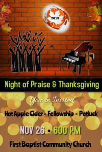 thanksgiving program/worship/church/school
