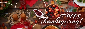 Thanksgiving Recipes banner Spanduk Tumblr template