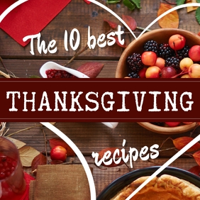 Thanksgiving Recipes Instagram post template