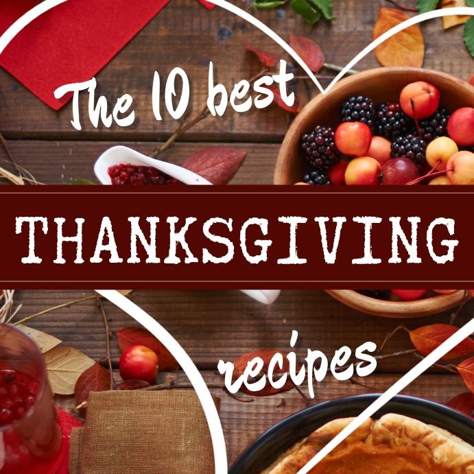 Thanksgiving Recipes Instagram post