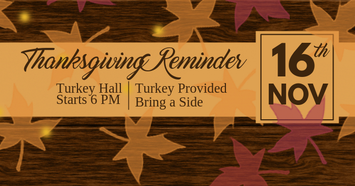 Thanksgiving Reminder Facebook Shared Image template