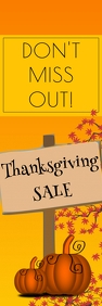 Thanksgiving sale banner Bannier 2' × 6' template